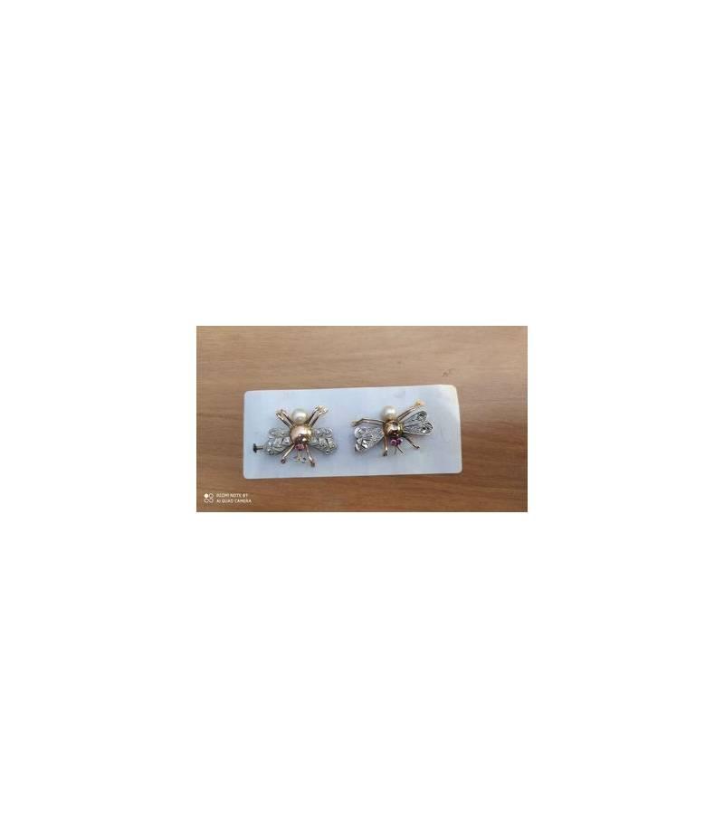 Spille con perline a forma di farfalla