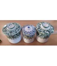 Lotto 3 pz contenitori in ceramica