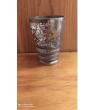 Bicchiere in vetro e argento