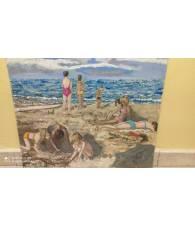 Quadro ad acquarello di Mazzoni 50x63